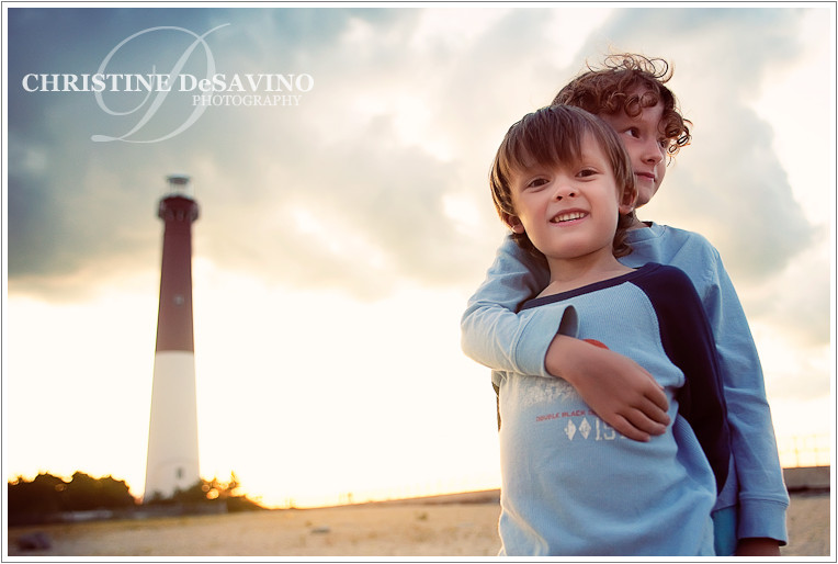 My boys at Barnegat Lighthouse, LBI, Jersey Shore