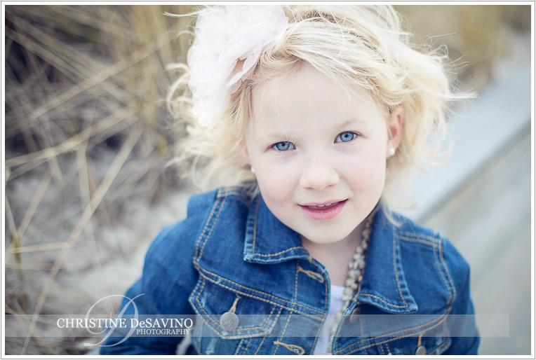 Beautiful girl on dunes - NJ Child Photograper