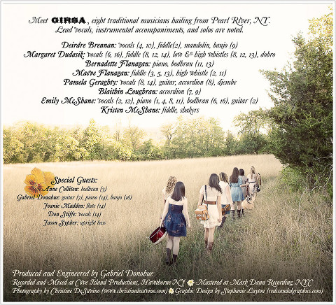 Girsa ~ A Sweeter Place Album inside cover 2  - NY/NJ Band Photographer