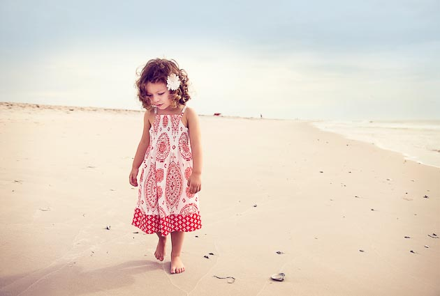 Girl on Beach - NJ Child Photographer - Christine DeSavino