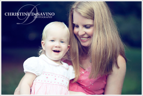 Baby girl with mother - NJ Child Photographer