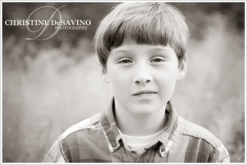 Black and white of beautiful boy - NJ Child Photographer