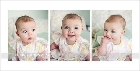 Storyboard of a precious 6 month old baby girl - NJ Baby Photographer Christine DeSavino