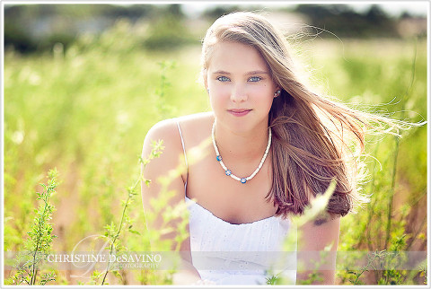 Beautiful girl in field - NJ Senior Photographer