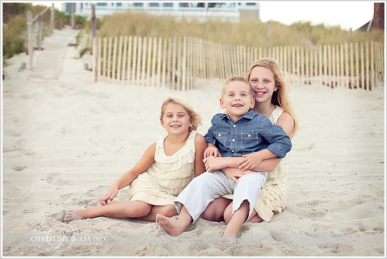 Adorable children on beach - NJ Beach Photographer