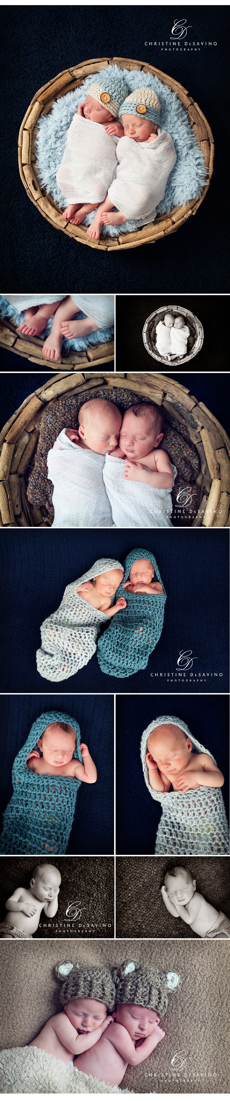 NJ Newborn Twin Photographer ~ Christine DeSavino Photography