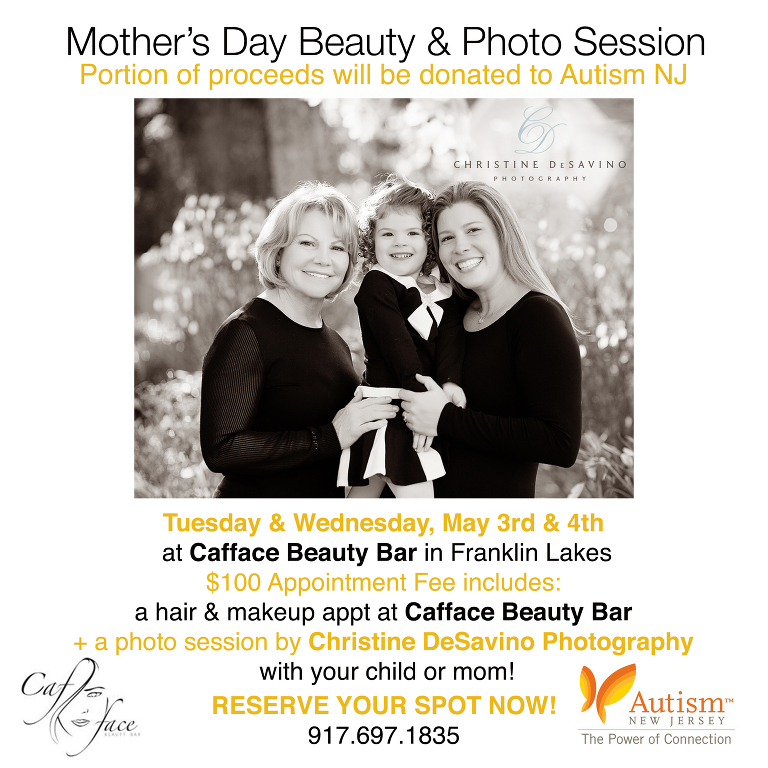 Cafface Beauty Bar, Autism New Jersey, Fundraiser, Beauty & Photo Session,